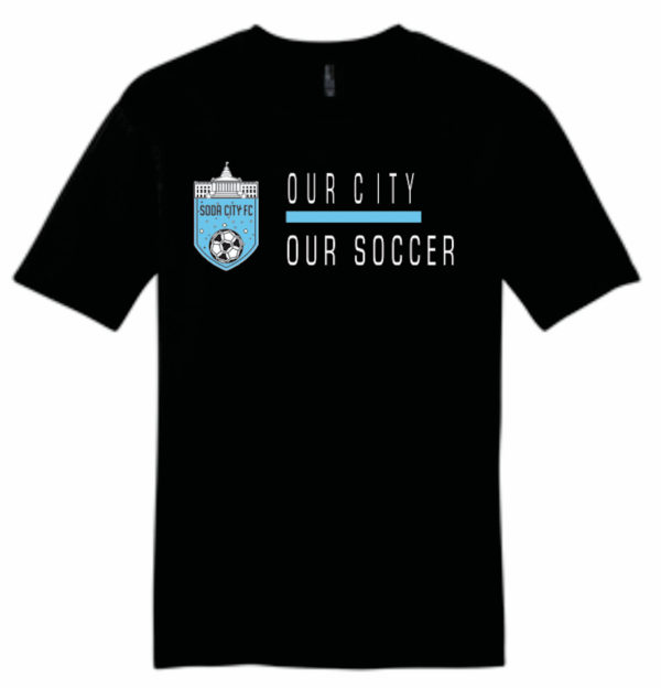 soda city fc t-shirt our city our soccer black