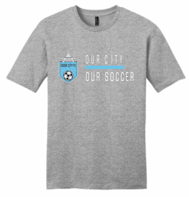 soda city fc t-shirt our city our soccer grey