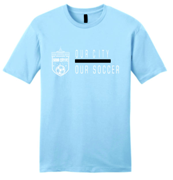 soda city fc t-shirt our city our soccer sky blue