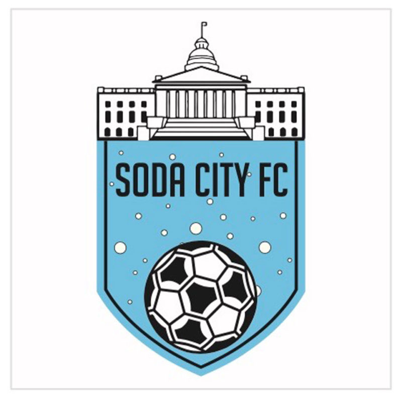 soda city fc full color vinyl bumper sticker