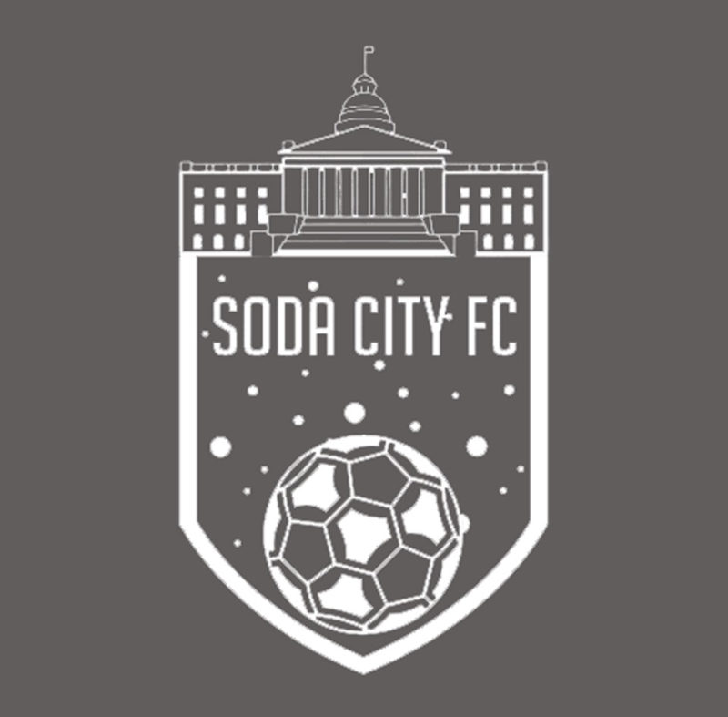 soda city fc white decal sticker