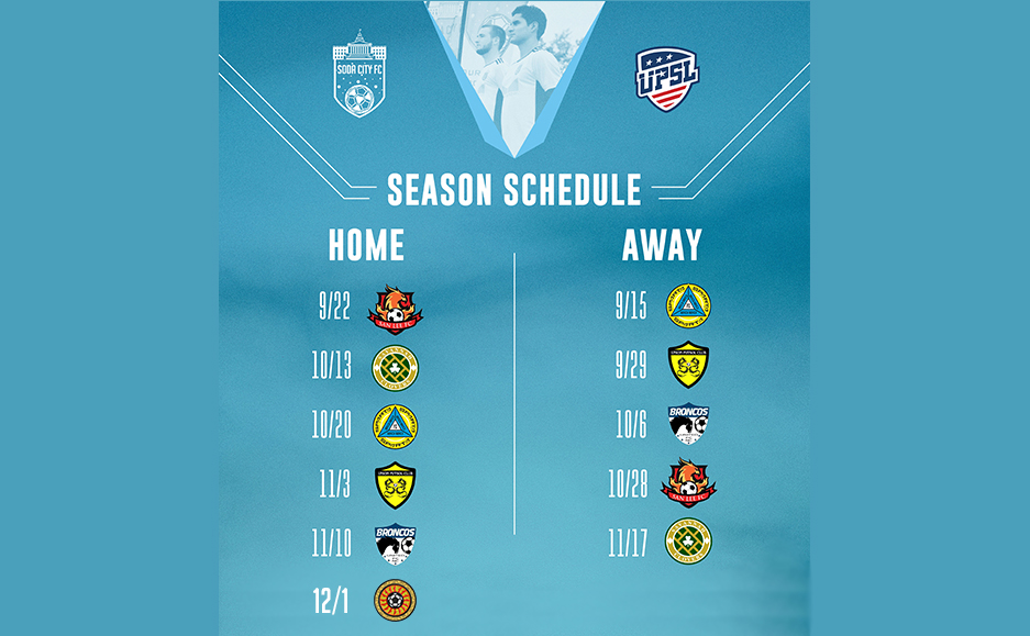 Soda City FC 2018 Match Schedule