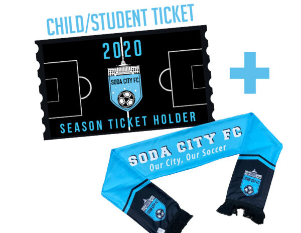 soda city fc child student season ticket